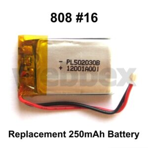 808 #16 Replacement 250mAh Battery