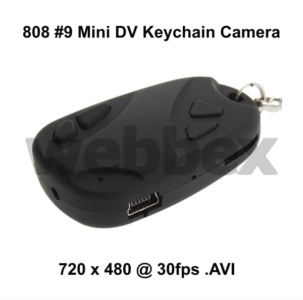 808  9 BUDGET MINI DVR KEYCHAIN CAMERA – Webbex Mini DV Cameras fe5f8255e