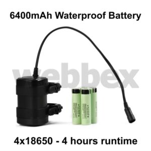6400mAh Waterproof Battery