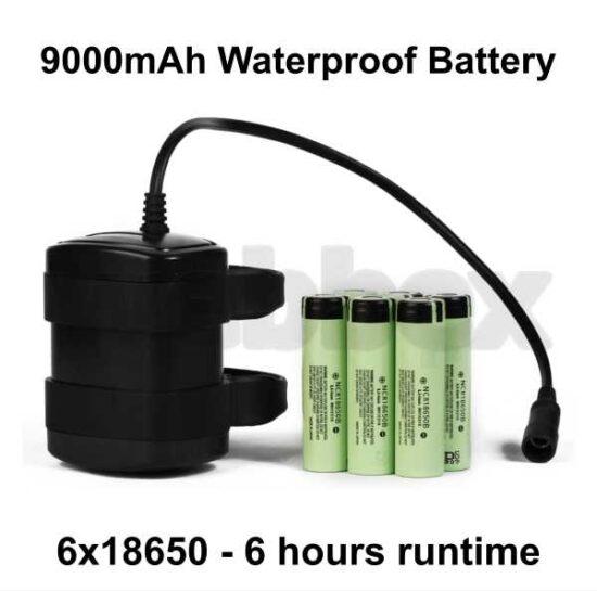 9000mAh Waterproff Bike Light Battery