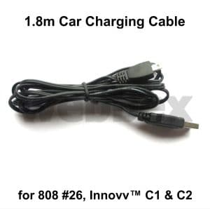 Car Charging Cable for 808 #26,C1 & C2 Camemeras
