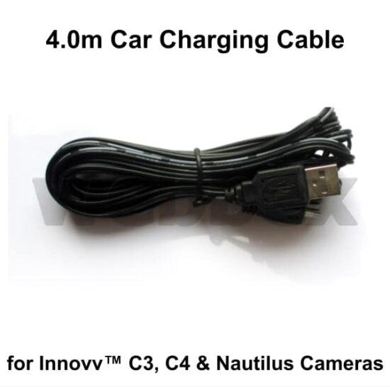 Car Charging Cable for C3, C4 & Nautilus Cameras