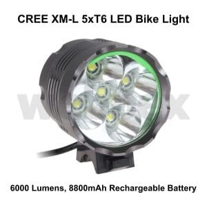 Cree 6000 Lumen Bike Light