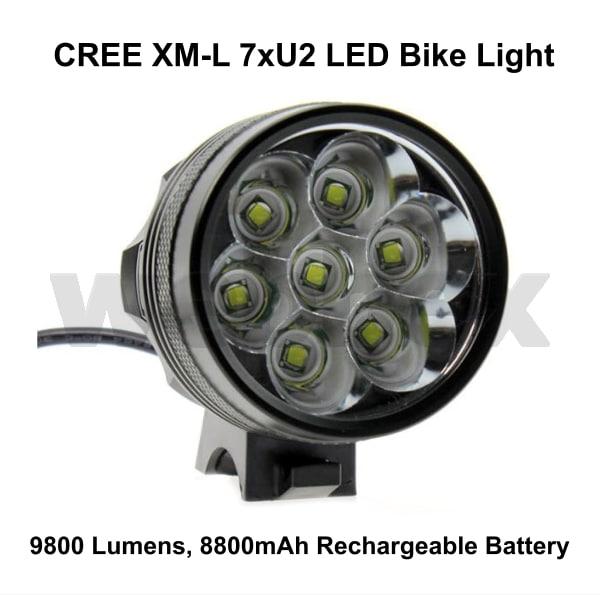Cree 9800 Lumen Bike Light