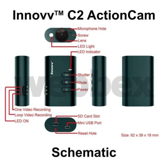 Innovv C2 Action Camera Schematic