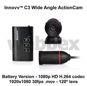 Innovv C3 Wide Angle Action Camera Battery Version