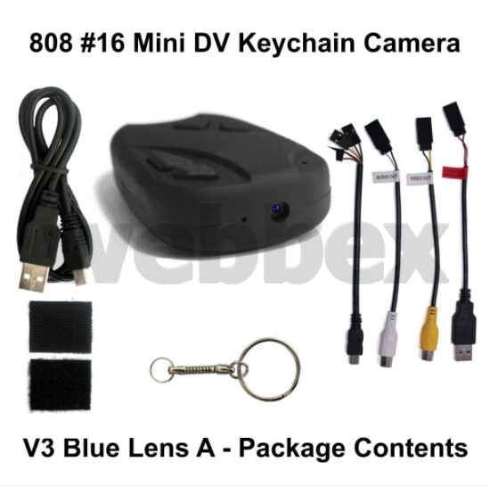 808 #16 Lens A Keychain Camera Package Contents