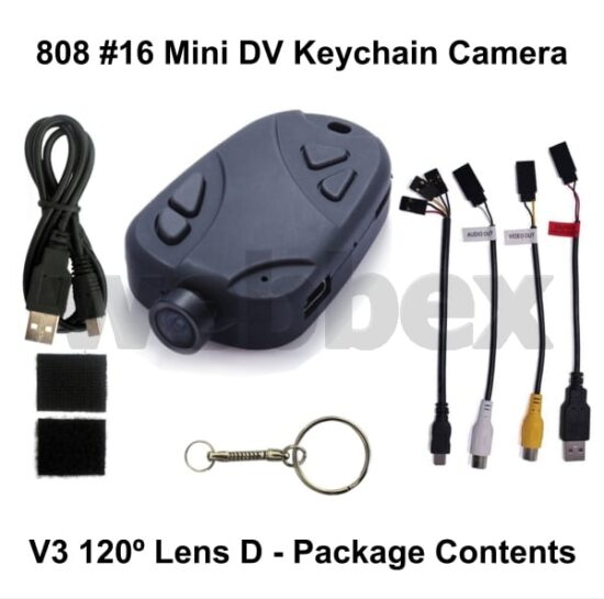 808 #16 Lens D Keychain Camera Package Contents