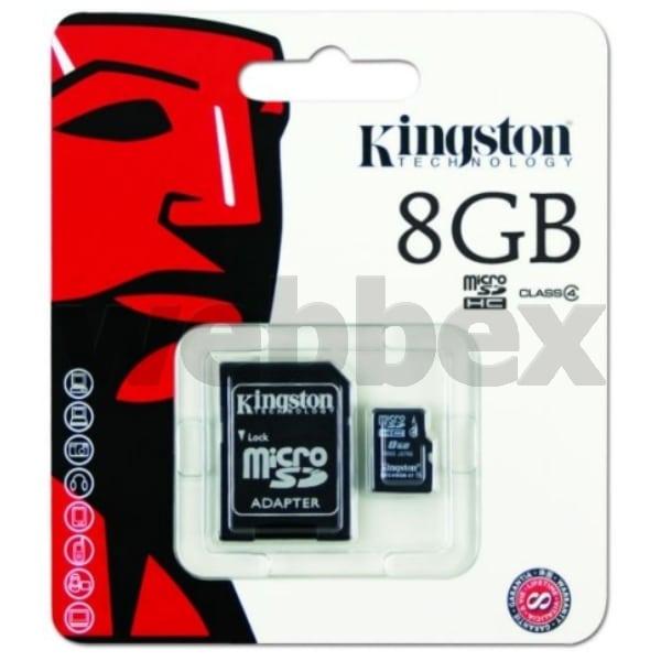 8gb Kingston Micro SD Memory Card