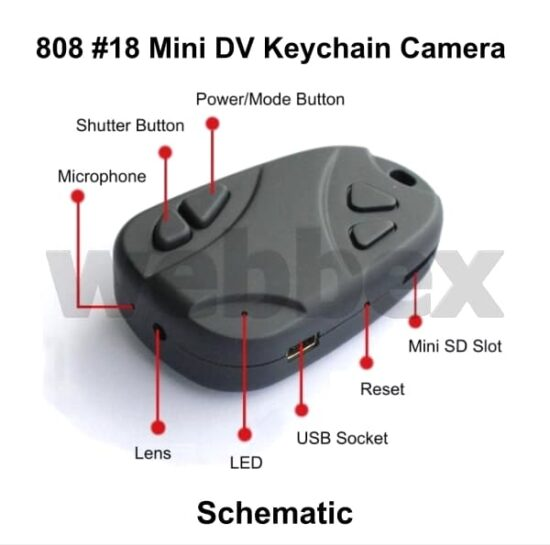 808 #18 Keychain Camera Schematic