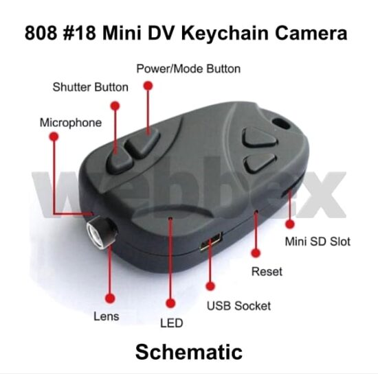 808 #18 Keychain Camera Schematic
