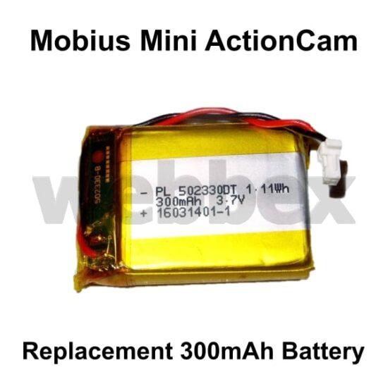 Mobius Mini Replacement 300mAh Battery