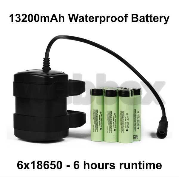 Lights4Bikes 13200mAh Waterproof Battery
