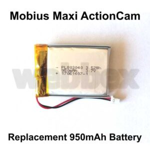 Replacement Battery for the Mobius Maxi ActionCam