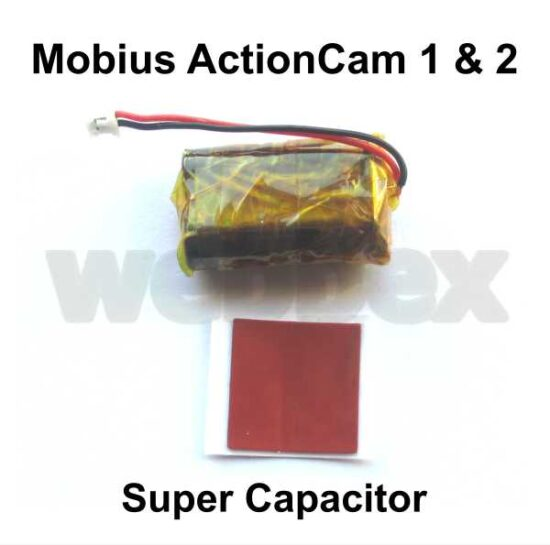 Super Capacitor for the Mobius ActionCam 1 and 2