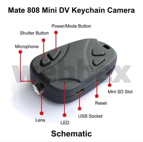Mate 808 HD Keychain Camera Schematic