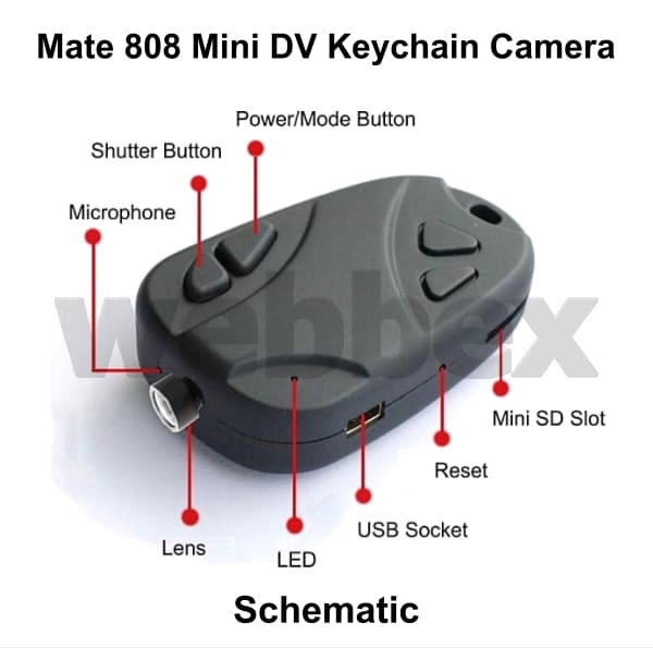 mate 808 wide angle 1080p 120 micro hd camera webbex mini dv cameras rh minidvcameras co uk DVR 808 16 V2 Lens Keychain Camera HD 720P 1280X720 808 No. 11 Car Keychain Camera