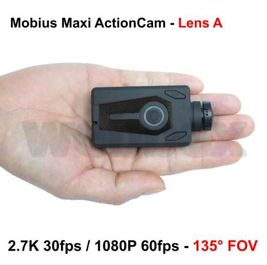 Mobius Maxi Action Camera - Black Lens A