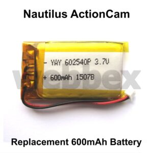 Nautilus Action Camera Replacement Battery