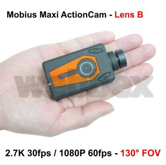 Mobius Maxi Action Camera - Orange Lens B